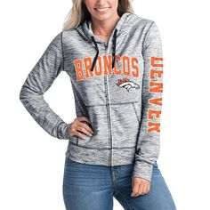 22110d1857ed Women s Denver Broncos 5th   Ocean by New Era Navy Athletic Space Dye Full-Zip  Hoodie