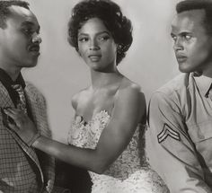 Dorothy Dandridge, Harry Belafonte, and Joe Adams in Carmen Jones (1954).