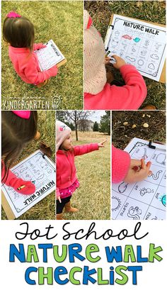 This nature walk checklist is perfect for an Earth Day theme in tot school, preschool, or the kindergarten classroom.