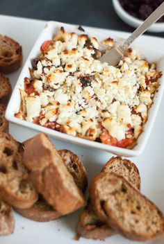 baked Mediterranean Feta dip. oh so easy and so good!