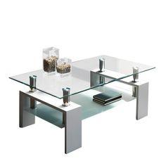 Mesa de centro Helios con una bandeja, estructura de acero y patas en DM | 87.80€