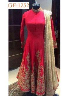 8907e02861e193 Bollywood Replica - Designer Red Anarkali Suit - 1252