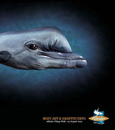 "body painting by Guido Daniele  : ""Handimals"""