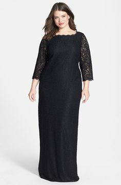 Adrianna Papell Scalloped Lace Gown (Plus Size) #Nordstrom