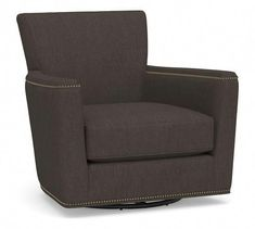 Our compact version of the classic club chair offers all the comfort of the original but in a smaller silhouette that's just right for a library, den or small living room. This swivel armchair's square arms give the traditional design … Small Swivel Chair, Swivel Glider, Swivel Armchair, Upholstered Chairs, Office Waiting Room Chairs, Accent Chairs For Living Room, Spool Chair, Beach Chair With Canopy, Chair And A Half