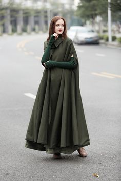 """Buy 2 or more items and receive 10% OFF one item! Please use promo code love10. Buy $500 and get 15% per item! Please use promo code """"love15"""" Wool winter coat NEW ARRIVAL 【Characteristic】 cloak design extracts the visual elements from film and tale to put on the stage of modern era and"""