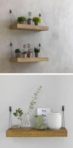 Interior Design Tips and Tricks: Unique hanging shelves - Hubub