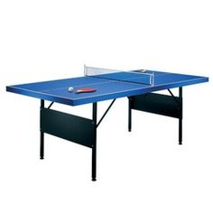 Table de ping pong pliable 183x71x91cm + 2 raquettes RILEY - Tennis, tennis de table, badminton