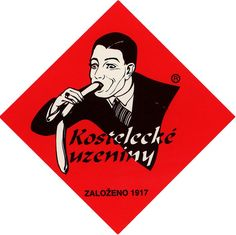 Kostelecké uzeniny is a popular Czech sausage company that has been around since 1917. It's easy to see why non-Czechs find the logo so amusing, but it's been on all the company's products since the '20s.
