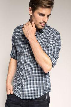 Esprit - Zacht, geruit overhemd, 100% katoen kopen in de online shop