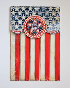 USA Flag - Wall hanging - Scrapbook.com