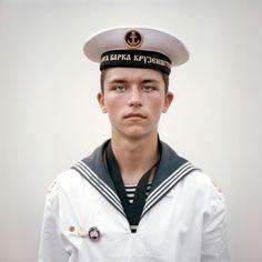 A beautiful photograph of a Russian cadet taken by Joost van den Broek, 2011