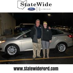 Morissa Shrum taking delivery of her new Ford Focus from Kurt Schalois. Thank you for your business!