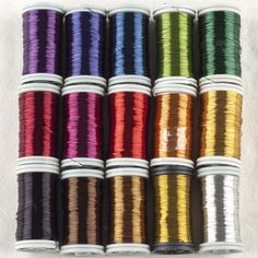 Multi Colored Copper Wires , Pick 4 Colors, Craft Supply , Wire Crochet Supply