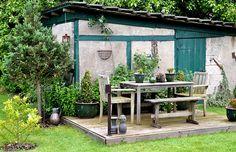 Gestaltungsbeispiel aus einem faszinierenden englischen Garten - gefunden auf www.country-garden.de