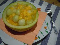 Macedonia de melón y mango