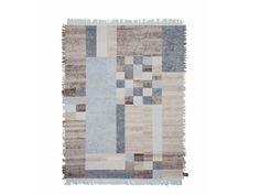 Tappeto rettangolare in lana a motivi geometrici OLDIE ELEMENT CUBO Collezione Oldie by cc-tapis ®