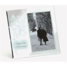 Wedding 40th Anniversary Glass Photo Picture Frames