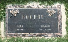 Ginger Rogers' Grave at Oakwood Memorial Park  in Chatsworth, California
