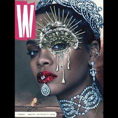 Capa Revista W com Rihanna Por Steven Klein