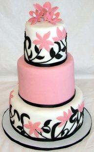 Cake Design Nice : 1000+ images about Cake #3 Black/White with Splash of ...
