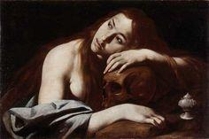 """""""Magdalena penitente"""" (1610-1614) es un óleo sobre lienzo de Carlo Sellitto. Esta obra es un ejemplo del barroco napolitano con una clara influencia caraveggesca debido que ambos autores se conocieron personalmente. Sellitto quedo prendado del naturalismo de Caravaggio y sus obras tomaron tintes tenebrosas hasta el final de su vida. Destacable en esta pintura es la belleza que irradia la Magdalena con una expresión arrepentimiento sobre una calavera, alegoría de la muerte y el tiempo."""
