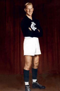 Carlton, Ken Hands: 1945 - 1957. 211 games, 188 goals.