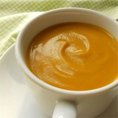Butternut and Acorn Squash Soup ~ squash, sweet onion, chicken broth, sugar, cream cheese, spice