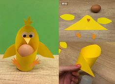 Animal Crafts For Kids, Easter Crafts For Kids, Art For Kids, Chicken Crafts, Puppet Crafts, Diy Crafts To Do, Easter Activities, Spring Crafts, Flower Crafts