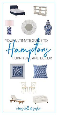 Get the Hamptons look for yourself with this ultimate source list. An absolute treasure trove of the best Hamptons style furniture Hamptons Living Room, Hamptons House, The Hamptons, Hampton Furniture, Hamptons Style Decor, Inspired Homes, Home Decor Styles, Diy, Country Furniture