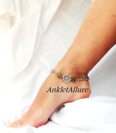 anklet pin silver ankle minimalist sterling elephant feather