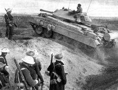 British MK.III Crusader tank in El Alamein, North Africa.