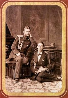 Grand Duke Sergei Alexandrovich Romanov of Russia and Grand Duke Konstantin Konstantinovich Romanov of Russia.A♥W