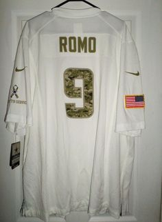 Men s DALLAS COWBOYS ROMO  9 Salute To Service NIKE NFL Jersey 62431eb4c