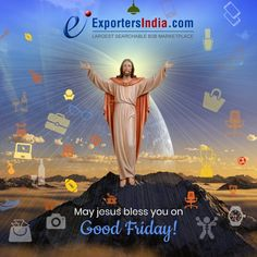 May Lord Christ shower his blessings on you this day and every day on your family. #HappyGoodFriday #GoodFriday #ExportersIndia #Christ