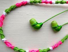 Teen DIY crafts--crochet headphones