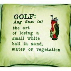 The Art of Golf ⛳️ Golf: The Art of losing a small white ball in . - The Art of Golf ⛳️ Golf: The Art of losing a small white ball in sand, water or vege - Golf Party, Golf Humor, Sports Humor, Funny Golf, Disc Golf, Nike Dri Fit, Ford Transit Custom, Golf Ball Crafts, Golf Putting