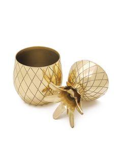 Brass pineapple shot glass copy