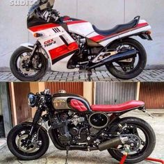 Honda 750. Before and after