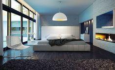 Интерьера спальни в стиле хай тек: советы с фото