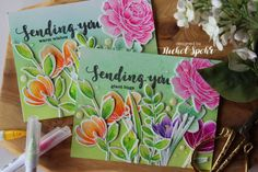 Simon Says Stamp | Spring Flowers + More Spring Flowers Card