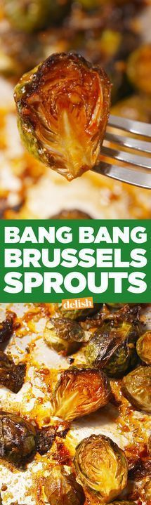 Best Brussel Sprout Recipes - Bang Bang Brussels Sprouts - Easy and Quick Delicious Ideas for Making Brussel Sprouts With Bacon Roasted Creamy Healthy Baked Sauteed Crockpot Grilled Shredded and Salad Recipe Ideas - Cool Lunches Dinner Snack Si Veggie Side Dishes, Vegetable Dishes, Side Dish Recipes, Food Dishes, Vegetable Samosa, Vegetable Spiralizer, Vegetable Casserole, Spiralizer Recipes, Dishes Recipes