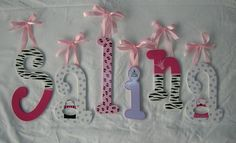 Wooden wall letters, hot pink, animal print, purses    www.mysweetdreamsart.com  www.etsy.com/shop/ArtbyMalhotra     Don't miss our fun wall letters home decor ideas at www.CreativeHomeDecorations.com. Use code Pin60 for additional 10% off.