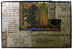 My tickets from 2011 We got around last year!