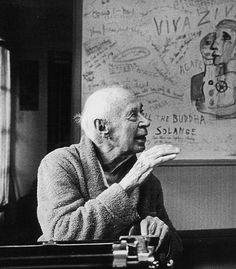 """Henry Miller at his typewriter. """"The moment one gives close attention to any thing, even a blade of grass it becomes a mysterious, awesome, indescribably magnificent world in itself."""" ~ Henry Miller"""