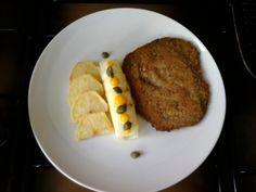 Cotoletta di vitello e  patate ,cannolo alla ricotta e capperi patate arrostite Gino D'Aquino