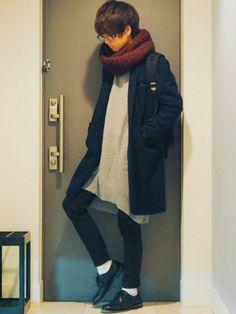 めっっっちゃ大きいニット着ました 《サイズ》 coat:2 knit:F pants:1 Tw
