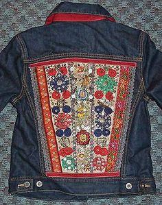 Lucky Brand Embellished Denim Blazer Jean Jacket Misses S | eBay