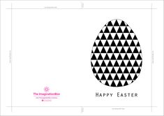 colour your own geometric easter egg card