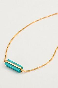 Gorjana Dez Turquoise Bar Necklace
